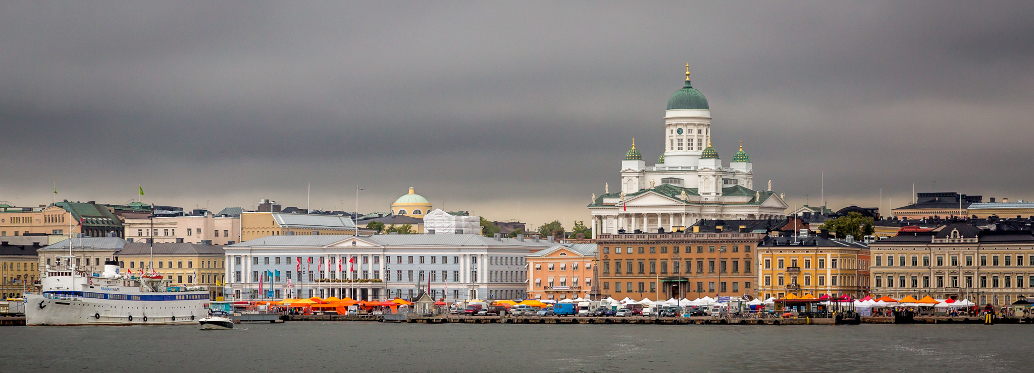 Helsinki is the capital of Finland and home to 1.2 million residents. The cathedral looming in the background is Helsinki Cathedral, originally built in 1852 and was known as St Nicholas' Church until Finnish independence in 1917.